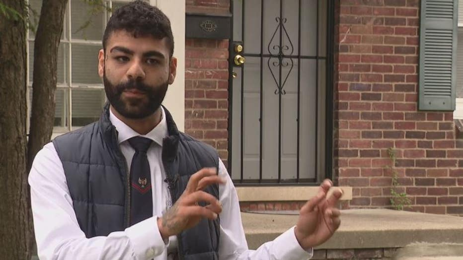 Nader Shariff, a Detroit real estate investor, describes a fake deed scam involving a Detroit home.