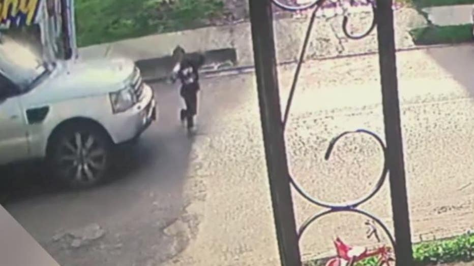 Still image of video right before the 7-year-old girl was hit.