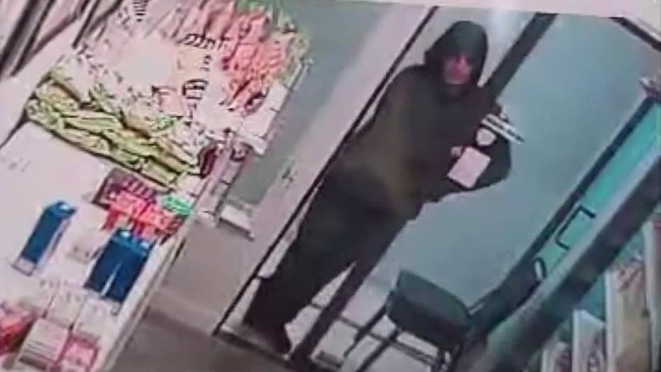 Still photo of the suspect wanted in rash of break-ins in Ann Arbor.