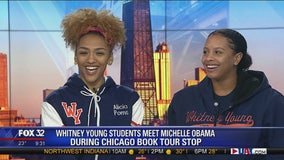 Whitney Young students meet Michelle Obama during Chicago book tour stop