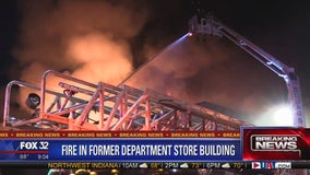 Firefighters battle blaze at Gately's Peoples building in Roseland