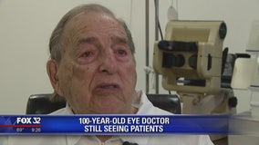100-year-old eye doctor still seeing patients in suburban Chicago