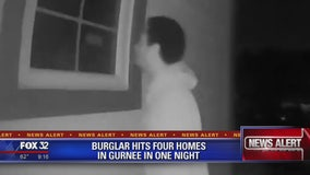 Burglar hits four Gurnee homes in one night