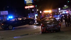 Vehicle flees traffic stop, crashes in Humboldt Park