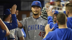 Darvish, five homers lead Cubs past fading White Sox 10-0