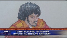 Sentencing hearing for man who thought he was setting off bomb in Chicago Loop