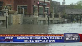 Suburbs dealing with serious flooding after more rains hits the Chicago area
