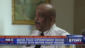 Mayor, police superintendent discuss strategy after another violent weekend