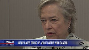 Actress Kathy Bates opens up about her battle with cancer