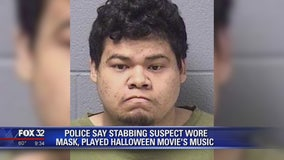 Man wearing Halloween mask stabbed caretaker 30 times in suburban Chicago: police