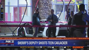 Off-duty sheriff's deputy shoots teen trying to steal his car