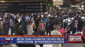 No one injured as fire breaks out on train leaving Union Station