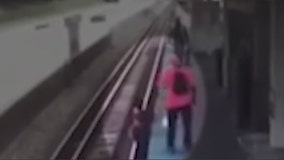 Family reacts to surveillance video showing moments before Red Line train kills woman