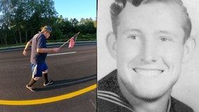 WWII veteran, 95, running from Georgia to California to raise money for ship memorial