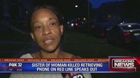 Sister of woman killed retrieving phone on Red Line speaks out