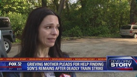 Grieving mother pleads for help finding son's remains after deadly train strike