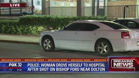 Woman struck by single bullet after her car was shot more than a dozen times in Chicago area