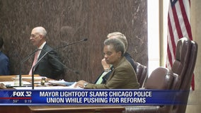 Mayor Lightfoot slams Chicago police union while pushing for reforms