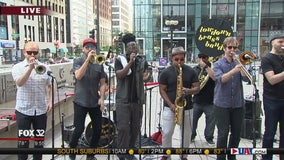 The Lowdown Brass Band previews their performance at Square Roots Festival