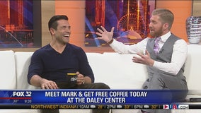 Share a cup of coffee with Mark Consuelos