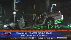 1 dead, another injured when freight train strikes car in Melrose Park