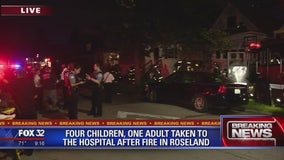 4 children, 1 adult taken to hospital after fire in Roseland