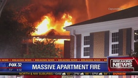 Dozens displaced after overnight fire at Crystal Lake apartment