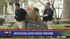 Investigators gather evidence from Crystal Lake home