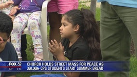 Church holds street mass for peace as CPS students start summer break