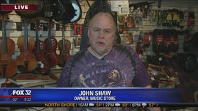 Community rallies around Irving Park music store owner