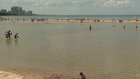 Rising water levels are shrinking and submerging Chicago beaches