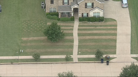 Teen mows United States flag design into front lawn to honor soldier