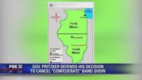 Governor Pritzker defends his decision to cancel 'Confederate' band show