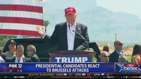 Presidential candidates sound off of Brussels attacks