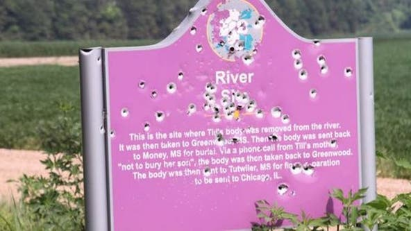 New bulletproof memorial to Emmett Till installed after previous markers were vandalized