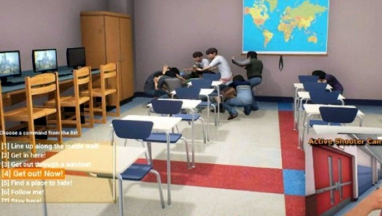 193327e3-Virtual reality video game trains teachers to survive school shooting, report says-401720