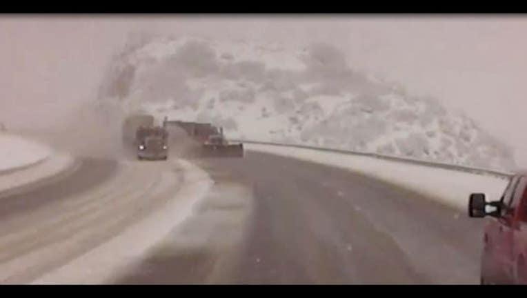 Plow crash photo courtesy Utah Department of Transportation