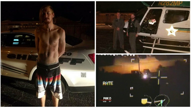 Pasco County Sheriff's Deputies arrest man with laser