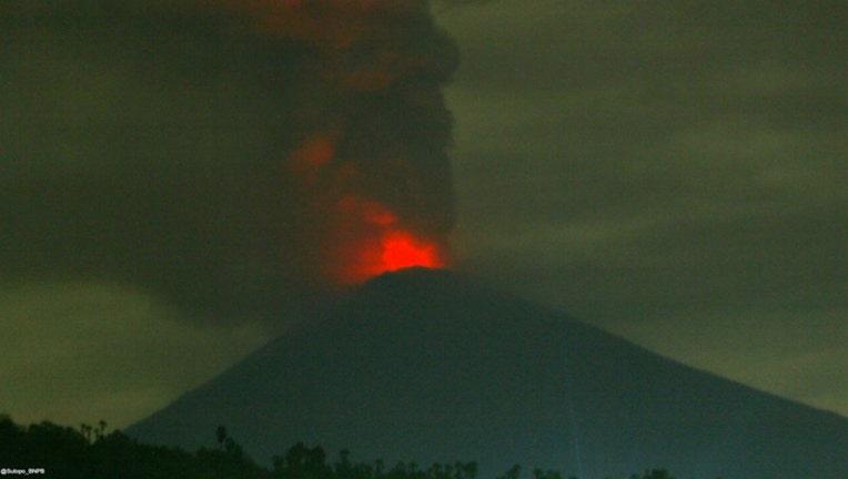 3ce7ed19-Mount Agung volcano on Bali