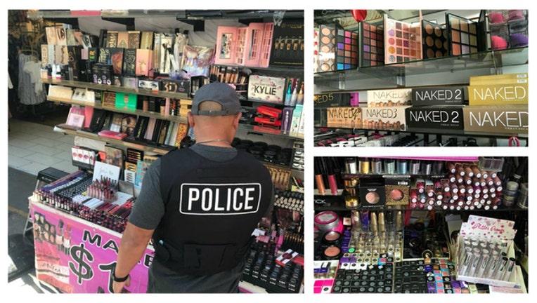 LAPD cosmetics bust - fake makeup
