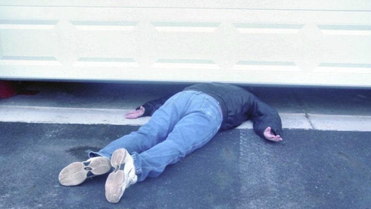 Photo of Dead Body Guy Chuck Lamb in action courtesy of Tonya Lamb