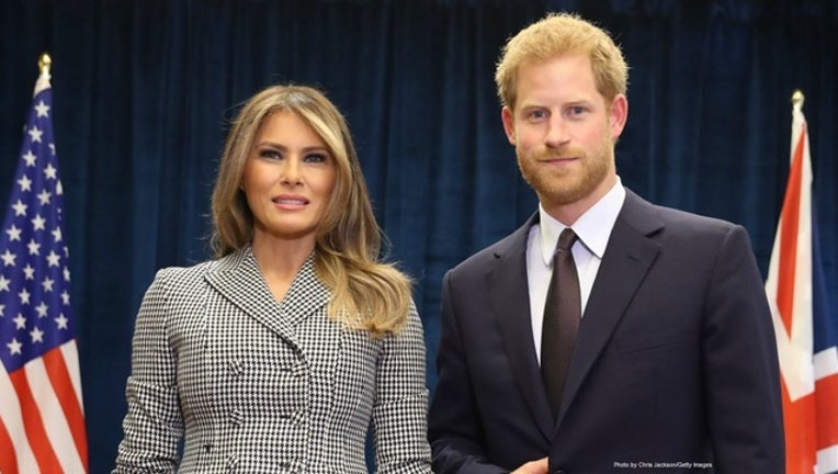 638acf98-GETTY-Melania Trump and Prince Harry