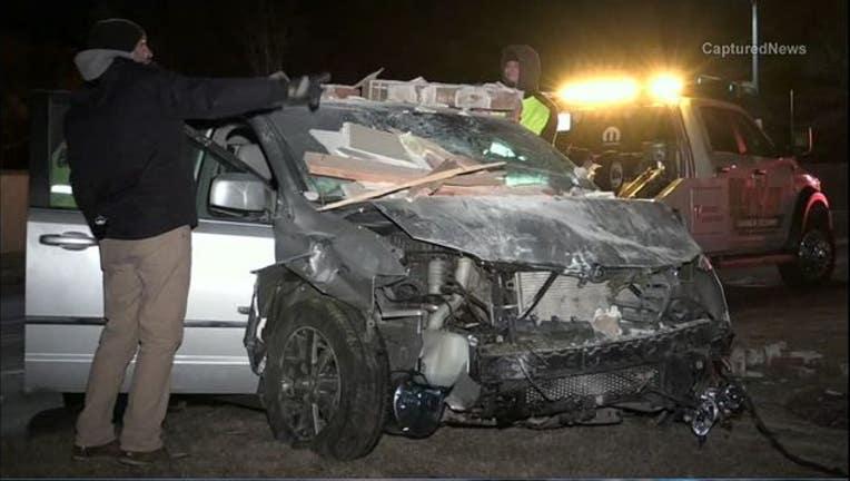 SUV crashes into dentist's office - image courtesy Captured News