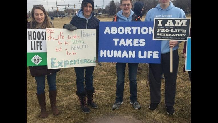 Pro-Life protesters in Aurora (Photo courtesty Fresco News)