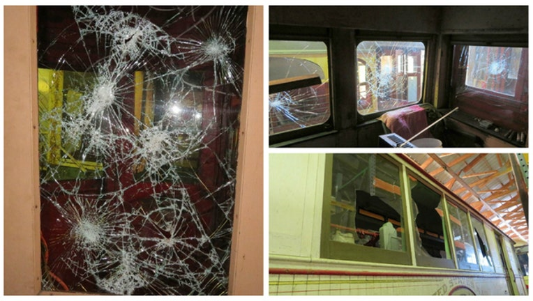 79a7d6e6-Vandals smashed windows at the Fox River Trolley Museum (images from GoFundMe)