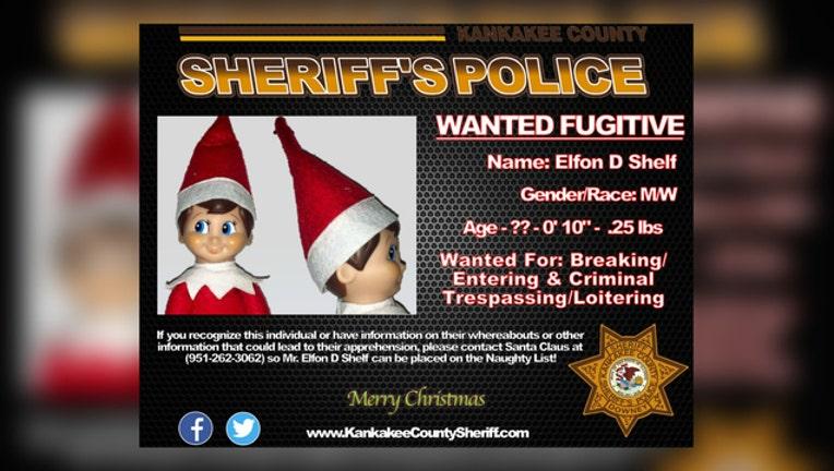 Elfon D Shelf Wanted Poster