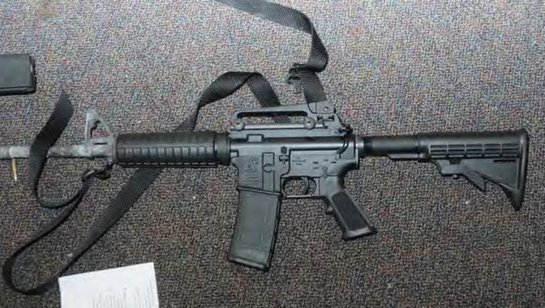 Bushmaster AR-15-style rifle used by Adam Lanza to kill 20 first-graders and six teachers