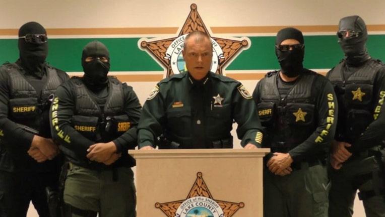 Image courtesy Lake County (Florida) Sheriff's Department