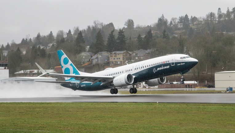 GETTY Boeing 737 Max 8 plane