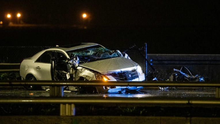 Man, 34, killed after crashing vehicle into guardrail on